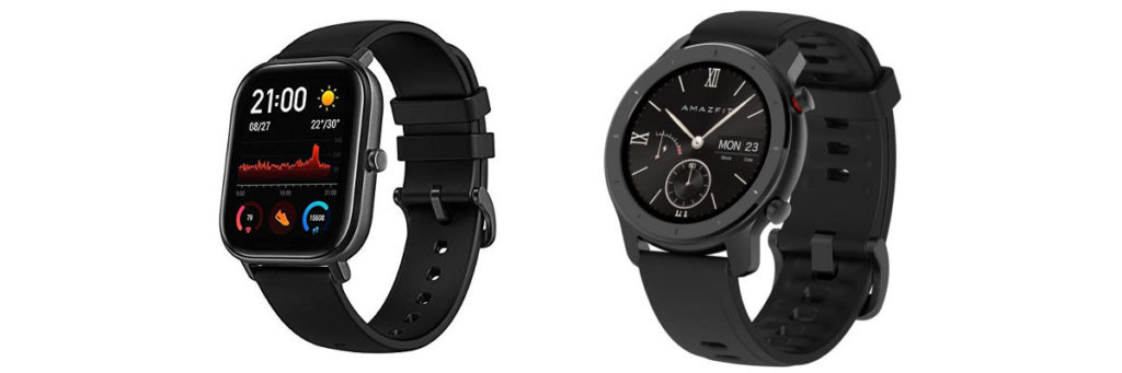 Smartwatch Amazfit GTS e GTR