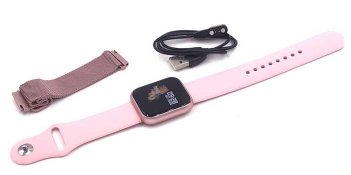 smartwatch p70 rosé (rosa) e acessórios