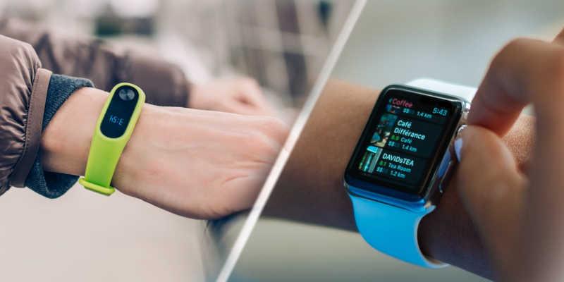 diferenças entre smartband e smartwatch