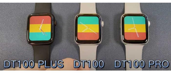 diferenças smartwatch dt 100