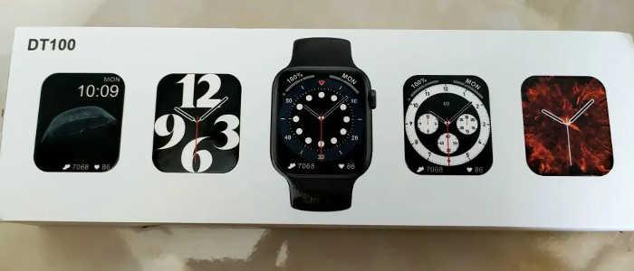 caixa smartwatch dt100